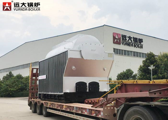 1000Kg Travelling Grate Wood Steam Boiler For Texitile Factory , Easy Maintenance